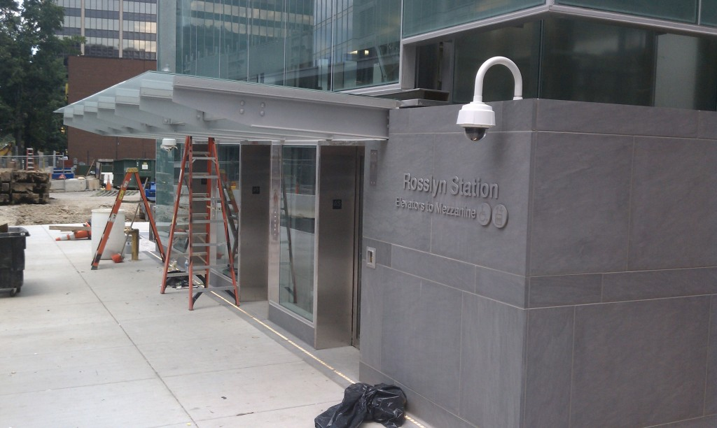 New Rosslyn Station entrance pavilion. Photo by the author.