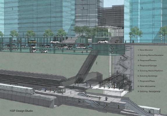 Cutaway of the Rosslyn Station second entrance. Image from Arlington County.