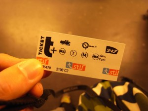 T+ ticket for Paris Metro and RER. CC image from josh.
