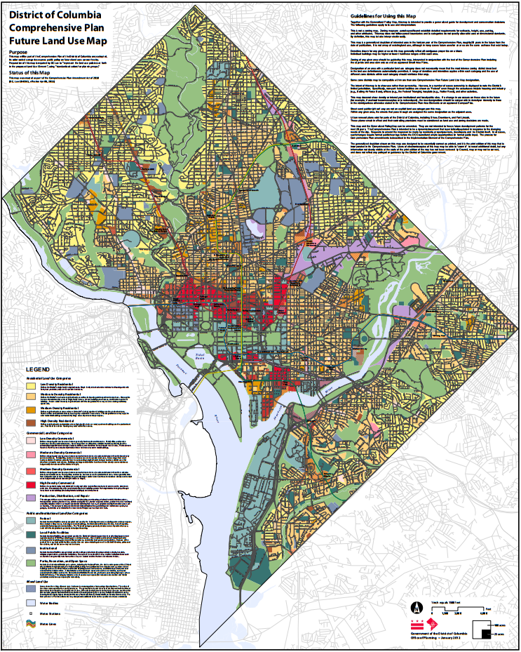 DC Comp Plan Future Land Use