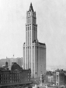 Cass Gilbert's Woolworth Building. CC image from Wiki.