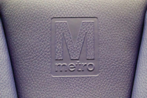 WMATA logo on a 7000-series seat. Creative Commons image from Kurt Raschke.